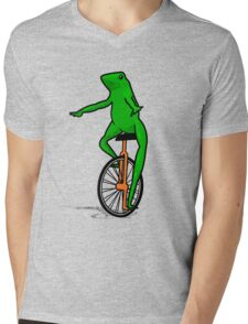 Dat Boi Unicycle Frog T-Shirt Mens V-Neck T-Shirt