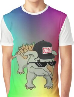 Dino Meme 420 Edition Graphic T-Shirt