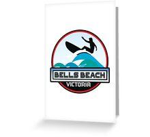 Surf Surfing BELLS BEACH VICTORIA AUSTRALIA Surf Surfer Surfboard Waves Ocean Beach Vacation Stickers Greeting Card