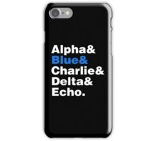 Raptor Squad Helvetica iPhone Case/Skin