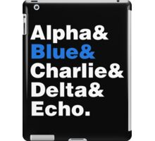 Raptor Squad Helvetica iPad Case/Skin