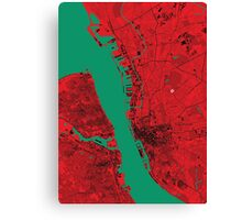 Liverpool Map Canvas Print