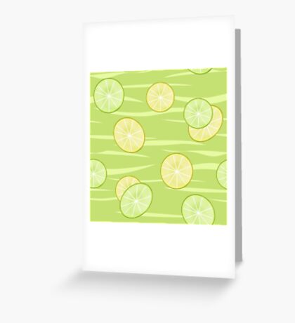 Colorful illustration . The Lemon & Lime.  Greeting Card