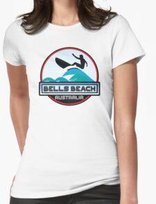 Surf Surfing BELLS BEACH VICTORIA AUSTRALIA Surf Surfer Surfboard Waves Ocean Beach Vacation Stickers Womens Fitted T-Shirt