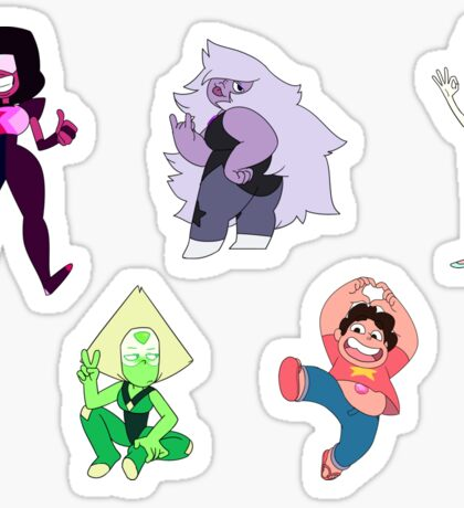Crystal Gems sticker pack [small size not recommended] Sticker