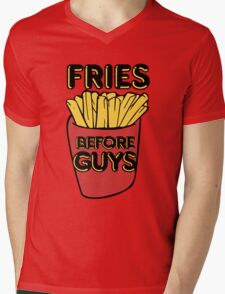 Fries before Guys Mens V-Neck T-Shirt