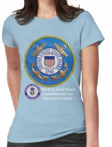 US Coast  Guard Rembers Womens Fitted T-Shirt