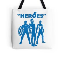 heroes: bowie and his super friends Tote Bag