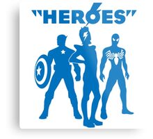 heroes: bowie and his super friends Metal Print