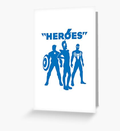 heroes: bowie and his super friends Greeting Card