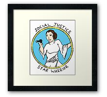 Social Justice Star Warrior - Leia Framed Print