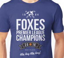 Leicester City FOXES Premier League Champions 2016 Unisex T-Shirt