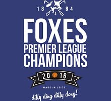 Leicester City FOXES Premier League Champions 2016 Unisex T-Shirt