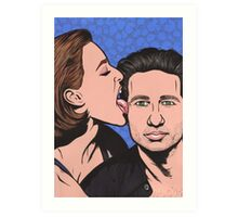 Mulder and Scully X Files Art Print