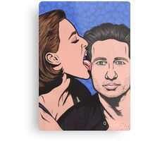 Mulder and Scully X Files Metal Print