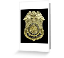 AMERICAN, US, USA, Army, Criminal Investigation Command, CID, Agent, Military Badge Greeting Card