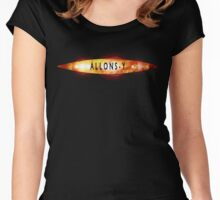 Allons-y Old Doctor Who Logo Women's Fitted Scoop T-Shirt