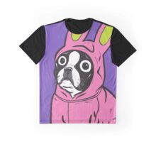 Boston Terrier in a Bunny suit Graphic T-Shirt