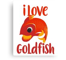I love goldfish Canvas Print