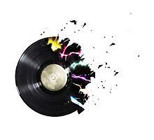 Broken record Photographic Print