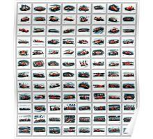 All Ferrari F1 1950-2016 Poster