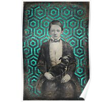Boy with a dog Poster