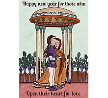 Happy new year for those who open their heart for love Photographic Print