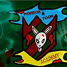HORROR AND TOON ACADEMY SCHOOL BAGE  by StuartBoyd