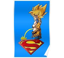 goku vs superman Poster