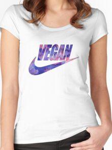 vegan purple!  Women's Fitted Scoop T-Shirt