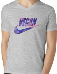 vegan purple!  Mens V-Neck T-Shirt