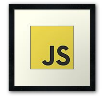 Javascript js stickers and shirts Framed Print