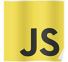 Javascript js stickers and shirts Poster