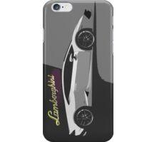 Lamborghini Gallardo grey illustration iPhone Case/Skin