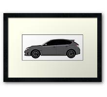 Subaru WRX Hatchback  Framed Print