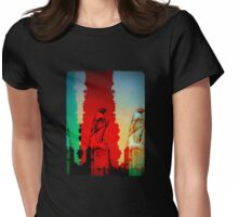 Red Eagle Statue Womens Fitted T-Shirt