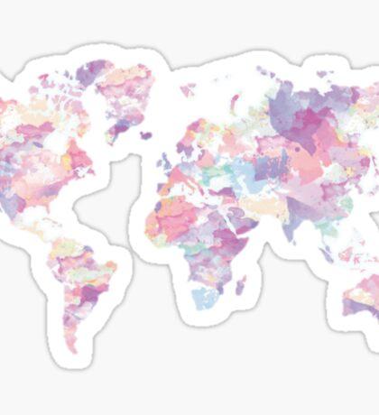 Watercolor Earth Sticker