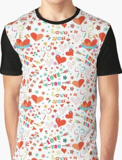 Colourful love Graphic T-Shirt