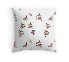 print with moose Throw Pillow