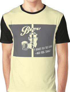 Beer Feeling Funny Quote Graphic T-Shirt