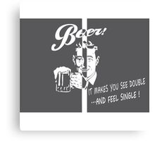 Beer Feeling Funny Quote Canvas Print
