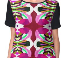 Patterned Body Paint Collection Pink Fusion Chiffon Top