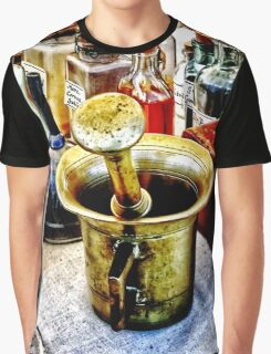 Brass Mortar and Pestle With Handles Graphic T-Shirt