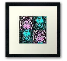 "PUNK N BLU: curly colourful girl - ""The Gradient Collection"" Framed Print"