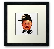 EAT BASS Framed Print