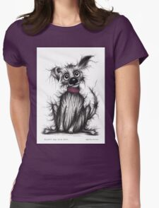 Fluffy the cute dog Womens Fitted T-Shirt