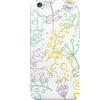 Doodle flowers iPhone Case/Skin