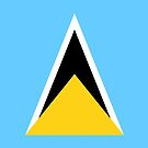 St Lucia Flag Stickers by Mark Podger