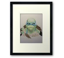 Leo Illustration Framed Print
