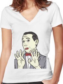 Pee Wee Herman Women's Fitted V-Neck T-Shirt